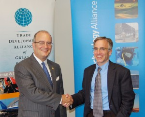 Sam Kaplan of the Trade Development Alliance with Tom Ranken of the Washington Clean Technology Alliance
