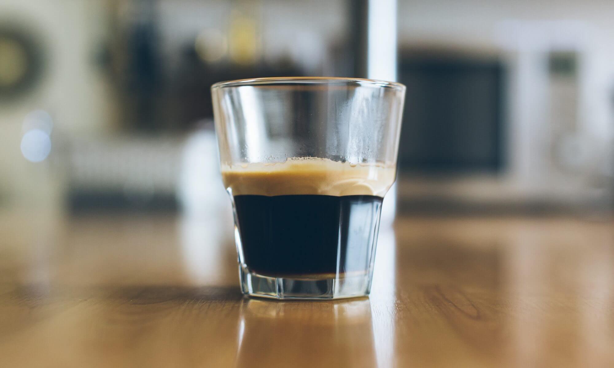 Espresso in a shot glass